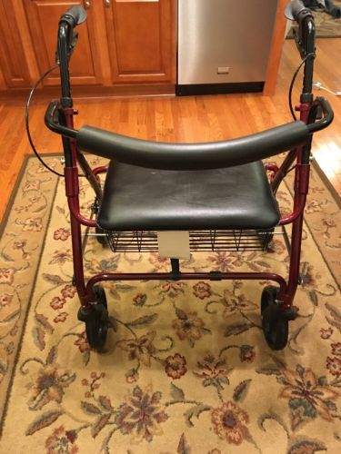 Medline Guardian Bariatric Rollator Heavy Duty Rolling Walker with Wheels