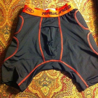 Rawlings Youth Large Padded Sliding Shorts, black, L, baseball sliding shorts
