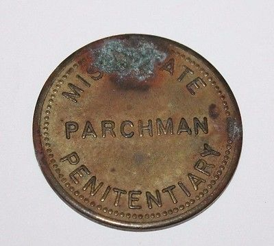 Vintage $0.50 Brass Prison Trade Token - PARCHMAN Mississippi State Penitentiary