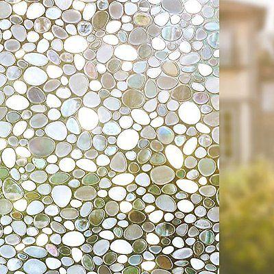 Rabbitgoo Stained Glass Panels Privacy Window Film Decorative Window Film Static