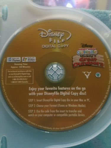 Disney Mickey Mouse Clubhouse Mickey's Great Outdoors DVD
