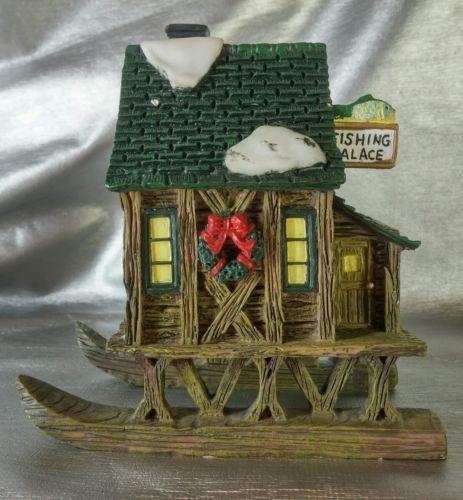 Resin Fish house, Ice house Fishing figurine