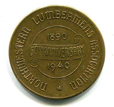 Northwestern Lumbermens Association 50th Ann. 1940 Grenadier Stoker Coal Bz 32mm
