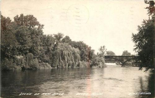 1942 Rum River Anoka Minnesota RPPC Real photo postcard 9087
