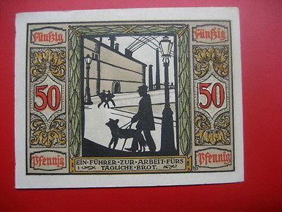 German Notgeld 1921 50 pfennig Oldenburg,Dog Guide..