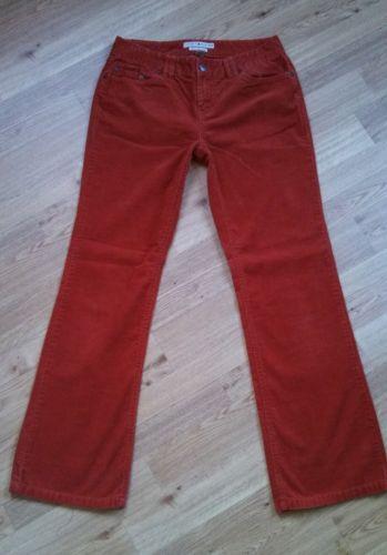 Tommy Hilfiger Orange Corduroy Pants Lowrise Boot Cut Jeans Size 6 - UNIQUE!