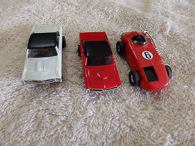 3 Aurora Slot Cars/ Chevelle, GTO & Indy Car