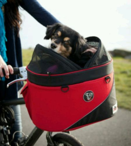 DoggyRide Cocoon Bike Basket For Pets - Red