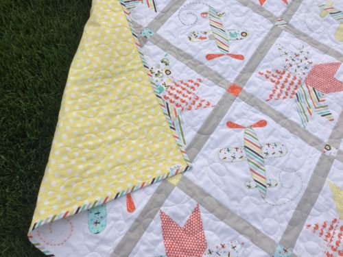 Seeing Stars Baby Boy Handmade Quilt