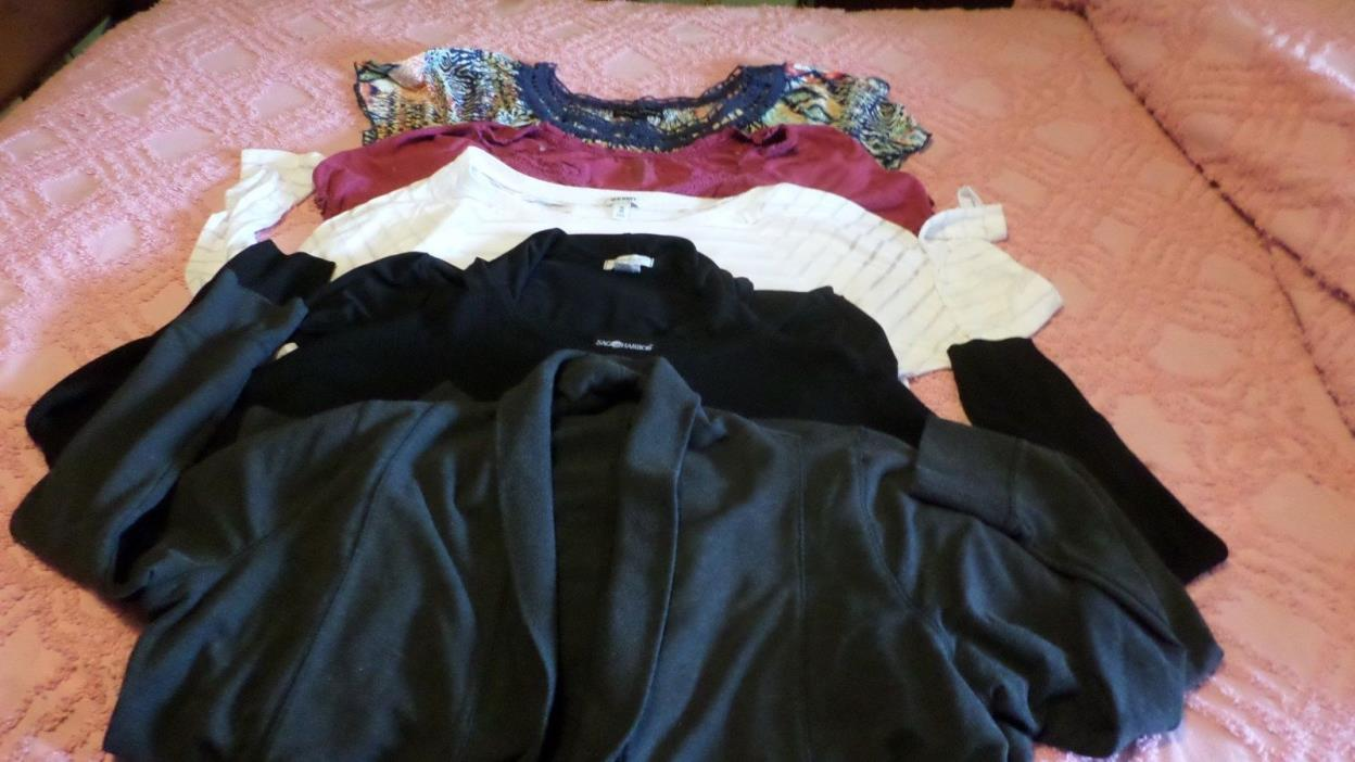WOMENS SZ 2X LOT OF 6 TOPS & SWEATERS VGUC