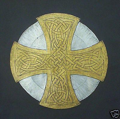 BRASS RUBBING, GOLD & SILVER CELTIC CROSS, WALL ART, Scottish