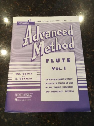 Rubank Advanced Method - Flute Vol. 1 (1992, Paperback) Music Book