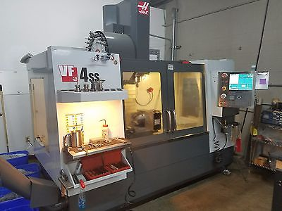 2014 HAAS VF4SS VF4, LOW HOURS, PROBES, 4TH AXIS DRIVE AND WIRING, HSM, IPS