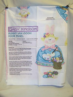 Daisy Kingdom Bunny Van Gogh Door Panel Fabric 2 Bonus Appliques