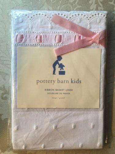 Pottery Barn Kids Large Ribbon Basket Liner
