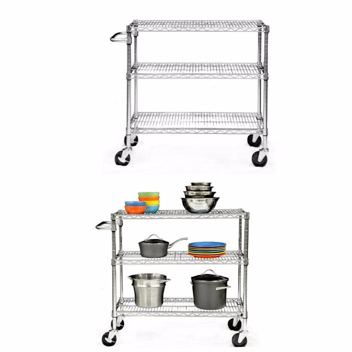 Kitchen Carts On Wheels Rolling Shelf Unit Food Service Equipment And Supplies
