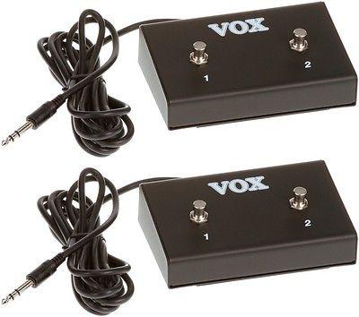 Vox VFS2 Dual Footswitch (2-pack) Value Bundle