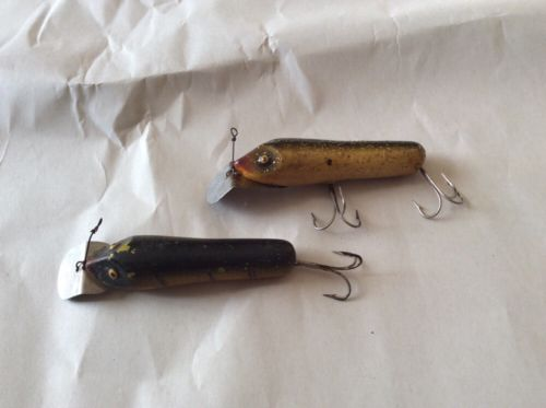TWO South Bend PIKE ORENO Wood Lure's