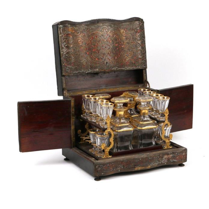 LOUIS XIV STYLE BOULLE INLAID TANTALUS