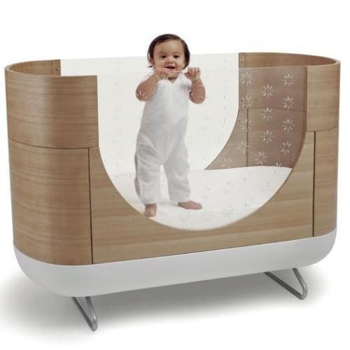 UBABUB POD BABY CRIB MODERN ACRYLIC WOOD TODDLER BED CONVERSION KIT EXCELLENT