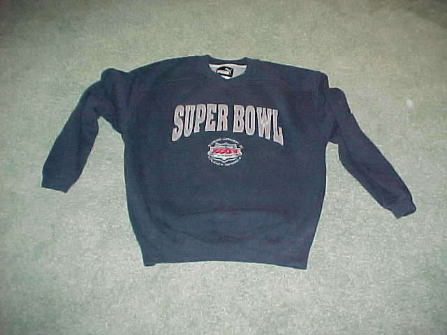 2000 Super Bowl XXXIV Football Sweatshirt Tennessee Titans v St Louis Rams Large