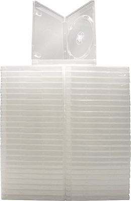 (50) Standard CLEAR 14MM Replacement Boxes / Cases without logo for PS3