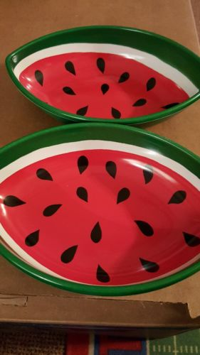 Watermelon Cereal Fruit Bowl Set of 2 Plastic