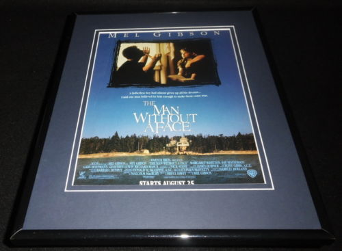 The Man Without a Face 1993 Framed 11x14 ORIGINAL Advertisement Mel Gibson