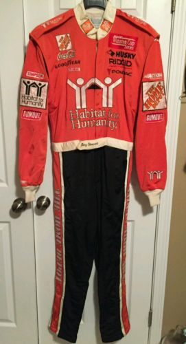 Tony Stewart Nascar Race Used Driversuit Habitat for Humanity