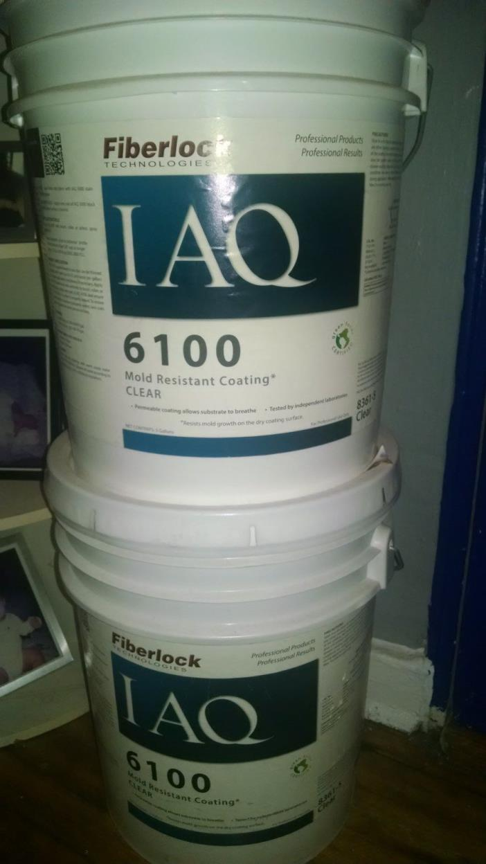 fiberlock IAQ 6100 Mold Resistant Coating Clear NEW 5 gallon $ GREAT PRICE $