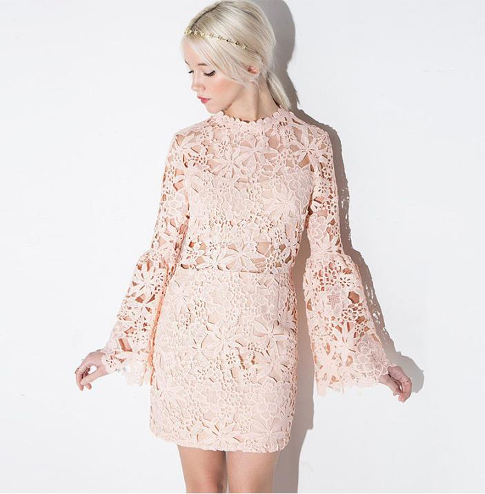 Women Formal Lace pink dress Prom Evening Party Bridesmaid Wedding Dress