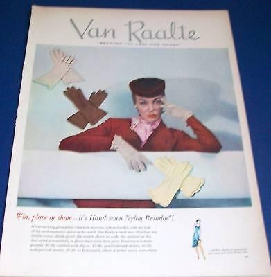 1950 Van Raalte Nylon Reindoe gloves Ad