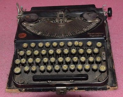 Vintage Remington Portable Typewriter.