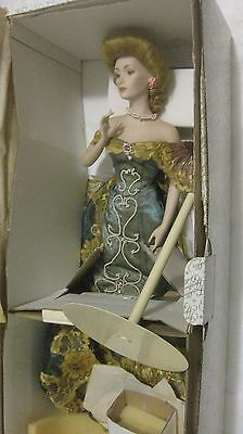 Rare Porcelain Gibson Girl Ballroom Doll By Dana Gibson From The Franklin Mint