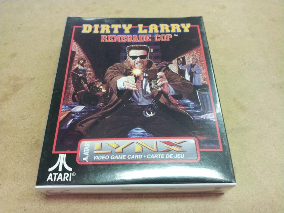 ^ BRAND NEW FACTORY SEALED Dirty Larry Renegade Cop Video Game for Atari Lynx