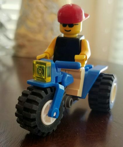 LEGO ATV Blue 3 Wheeler & Minifigure Accessory Vehicle