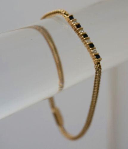 14K Gold Diamond & Sapphire Bracelet 14K Gold Diamond & Sapphire Bracelet