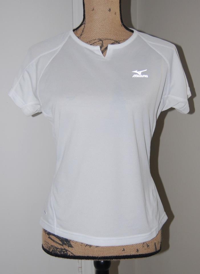 Mizuno Women's Dryscience Athletic Shirt, White, Small, Cycling / Running