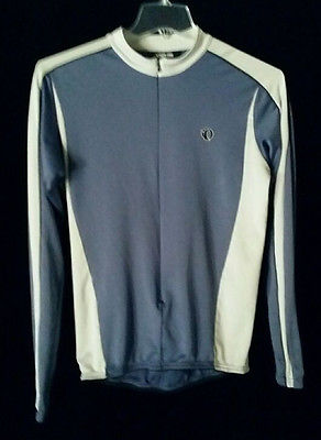 Pearl Izumi Mens large, blue and light gray, fall season, cycling jacket.
