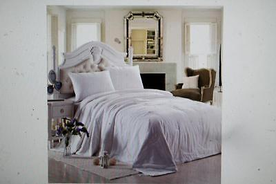 Dreamland Comfort All Natural Mulberry Silk Comforter All Seasons White Queen
