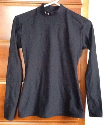 UNDER ARMOUR Mock Neck Compression Shirt Women Large Black
