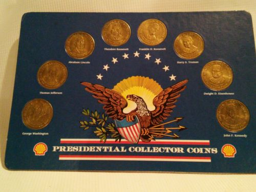 SHELL'S PRESIDENTIAL  COLLECTOR COINS ~ Shell Gas Station ~ complete