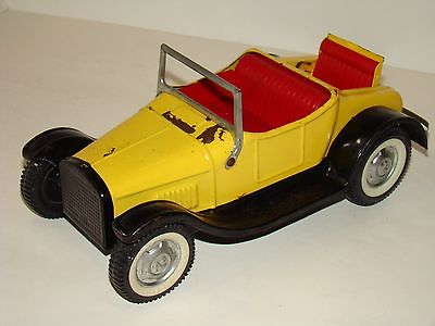 VINTAGE 1950'S NYLINT YELLOW ROADSTER WITH RUMBLE SEAT