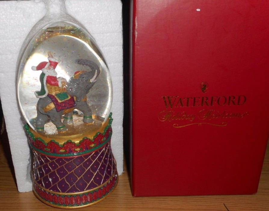 Waterford Holiday Heirlooms  Santa Musical Snow Globe 137651 New In Original Box