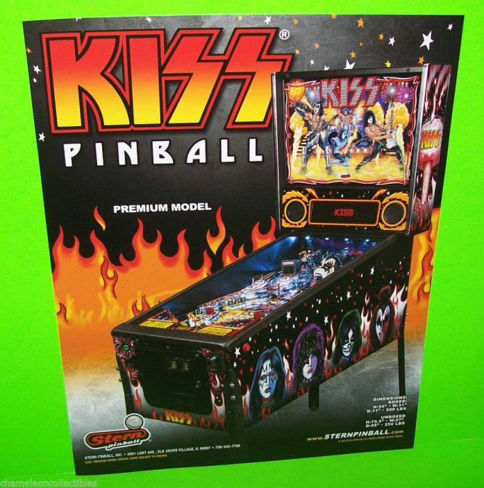 Stern KISS Premium Edition 2015 Original NOS Pinball Machine Promo Sales Flyer