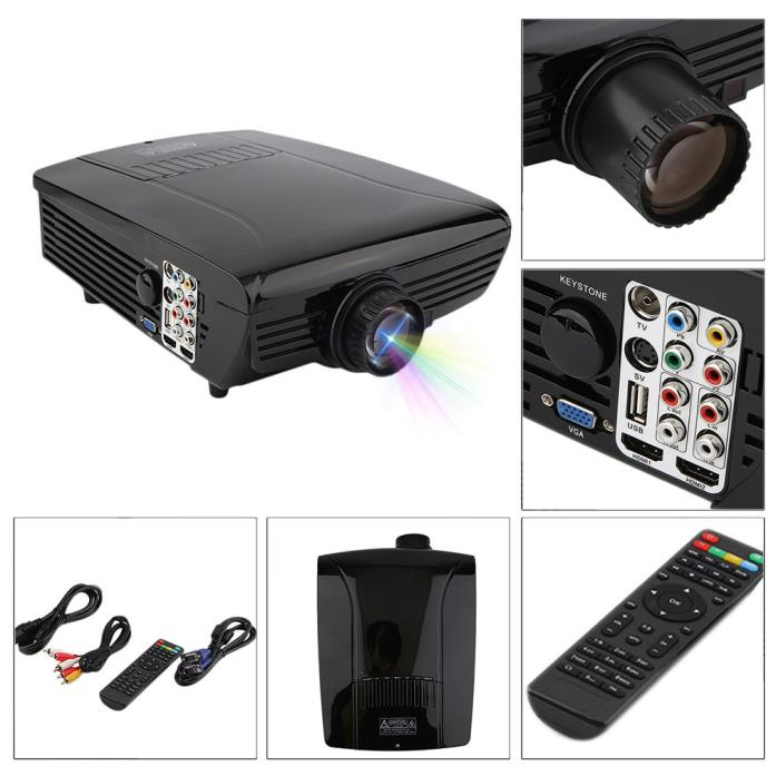 Business Home Cinema Theater Projector 1080Q HD HDMI TV DVD Playstation 3D Game