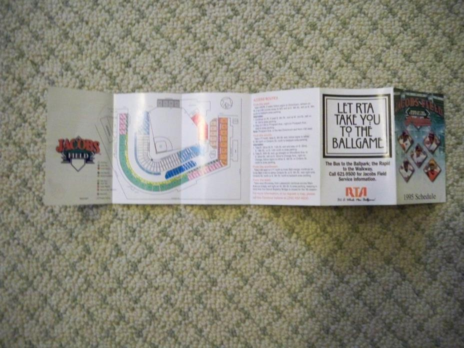 cleveland indians  pocket schedule 1995 MBL