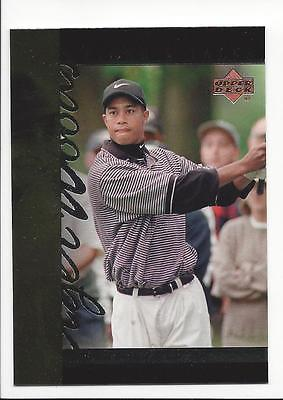 TIGER WOODS  RC  2001 UD - TIGER'S TALES INSERT #TT14  ROOKIE OF THE YEAR 1996