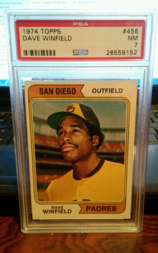1974 Topps Dave Winfield Rookie #456 recent  PSA 7 San Diego Padres set break