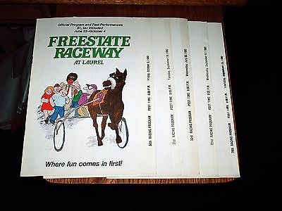 5 FREESTATE RACEWAY 1980 Harness Horse Racing Programs